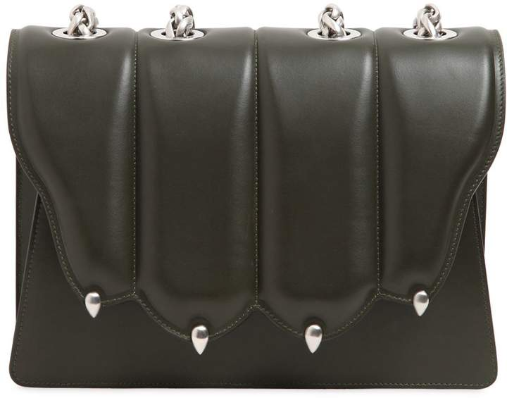 Marco De Vincenzo Large Griffe Leather Shoulder Bag