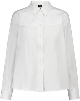 A.P.C. Pascale cotton poplin shirt