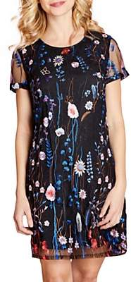 Yumi Floral Embroidered Tunic Dress, Multi
