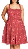 City Chic Plus Size Women's Cutie Raccoon Print Fit & Flare Sundress