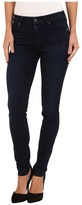 7 For All Mankind Slim Illusion LUXE Midrise Skinny w/ Contour Waistband in Rich Blue Women's Jeans