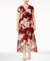 Love Squared Trendy Plus Size Faux-Wrap Maxi Dress
