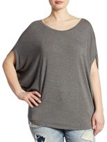 Slink Jeans, Plus Size Heathered Scoopneck Top