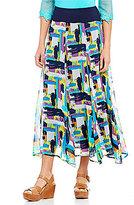 Multiples Pull-On Elastic Waist Multi-Panel Skirt