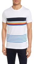 French Connection Men's Senior Stripe Slim Fit T-Shirt