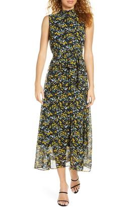 Sam Edelman Ditzy Print High Neck Maxi Dress