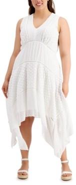 Taylor Plus Size V-Neck Lace Maxi Dress