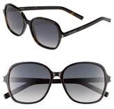 Saint Laurent 57mm Oversize Sunglasses