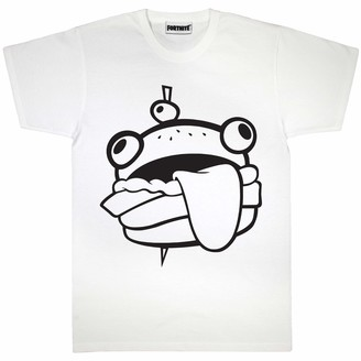 Fortnite Durr Burger Women's Boyfriend Fit T-Shirt White 2XL | S-XXL Gamer X-Box PS4 PS5 Loose Baggy Oversized Classic Crew Neck Graphic Top Birthday Gift Idea