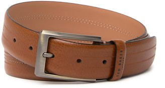 Ted Baker Aggra Stitched Leather Belt