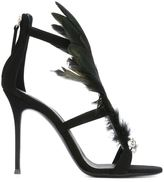 Giuseppe Zanotti Design feather embellished sandals