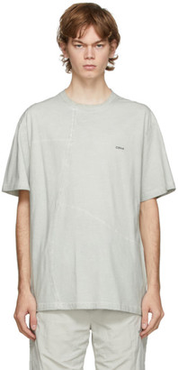 C2H4 Grey Crooked Panelled T-Shirt