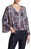 Anama Printed Bell Sleeve Blouse