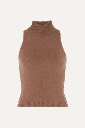 Versace Knitted Turtleneck Top - Brown