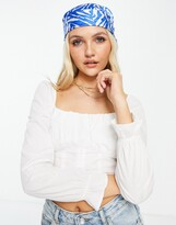 Thumbnail for your product : Pimkie corset long sleeve top in white