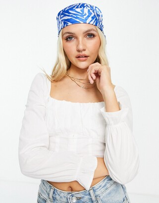 Pimkie corset long sleeve top in white