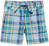 First Impressions Plaid Cotton Shorts, Baby Boys (0-24 months), Only at Macy's
