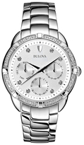 Bulova Diamond Set Case Chronograph Bracelet Watch