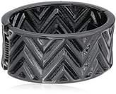 "GUESS Basic"" Hematite Chevron Stretch Bracelet"