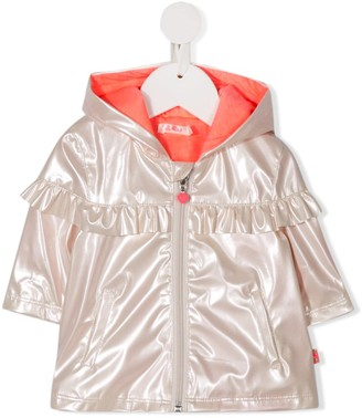 Billieblush hooded satin coat