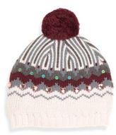 Lili Gaufrette Kid's Embellished Pom-Pom Hat