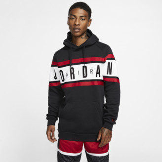 Jordan Jumpman Taped Hoodie Sweatshirt - Black / White Gym Red
