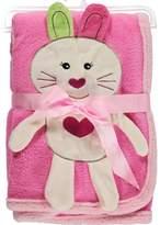 "Sweet & Soft Bunny Heart"" Plush Blanket"