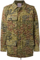 Palm Angels camouflage print military jacket - men - Cotton/Polyamide - 44