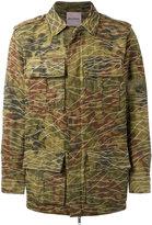 Palm Angels camouflage print military jacket - men - Cotton/Polyamide - 48