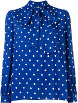 Saint Laurent polka-dot pussybow blouse - women - Viscose - 36