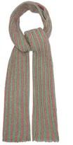 Missoni Metallic Striped Crochet-knit Shawl - Womens - Green