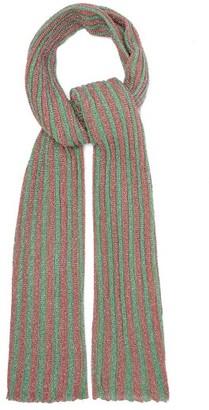 Missoni Metallic Stripe-knitted Scarf - Green