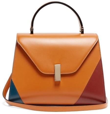 Valextra Iside Medium Leather Bag - Tan Multi