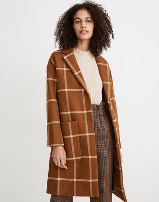Madewell Windowpane Elmcourt Coat in Insuluxe Fabric