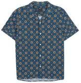 Burton Mens Blue Short Sleeve Tile Print Shirt