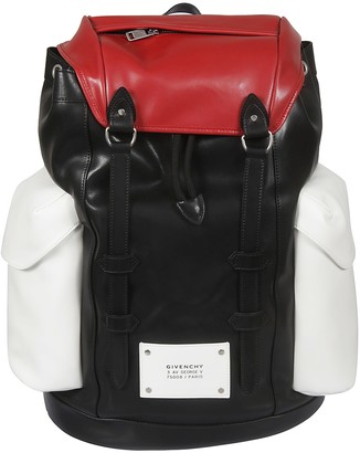 Givenchy Logo Patch Side Pocket Backpack