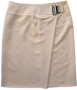 Celine Ecru Wool Skirt for Women Vintage
