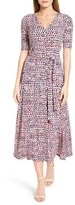 Chaus Women's Print Tie Waist Midi Dress