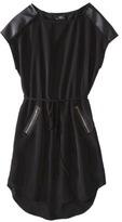 Mossimo Women's Short Sleeve Dress w/Zippered Pockets - Black