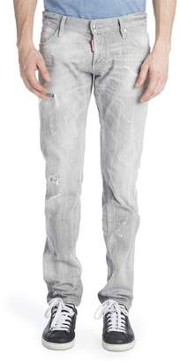 DSQUARED2 Slim Duck Wash Distressed Jeans