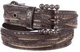 Bottega Veneta Python Buckle Belt