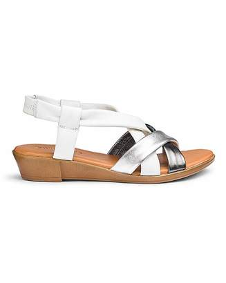 Jd Williams Leather Slingback Sandals E Fit