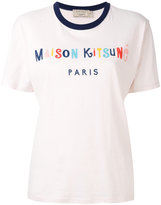 MAISON KITSUNÉ lettering logo print T-shirt - women - Cotton - XS
