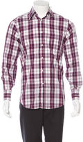 Brunello Cucinelli Plaid Button-Up Shirt