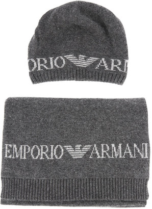 Emporio Armani Scarf And Hat Set With Logo
