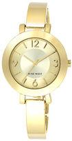 Nine West Ladies Quartz Goldtone Bangle Bracelet Watch