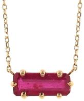 Jamie Joseph Emerald Cut African Ruby Pendant Necklace