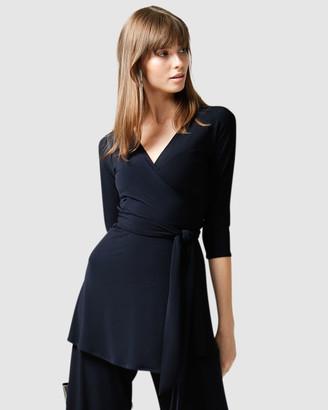 SACHA DRAKE - Women's Navy Tunics - Turnaround Tunic - Size One Size, 14 at The Iconic
