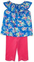 Ralph Lauren Floral-Print Twill Top And Stretch Jersey Leggings Set, Baby Girls (0-24 months)