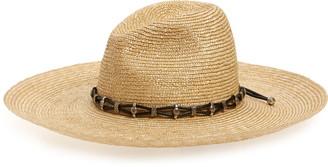 Saint Laurent Straw Western Hat